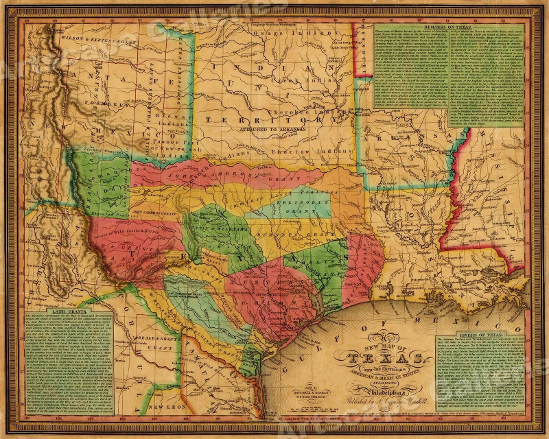 1835 Texas, Indian Territory & Mexican States